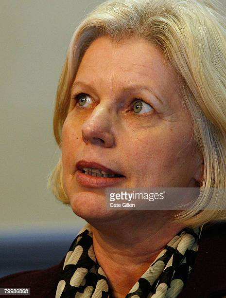 The mother of Marsha McDonnell Ute speaks to the press at Snow Hill Police Station on February 25 2008 in London England Former bouncer Levi...