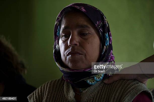The mother of miner Ilkay Yildrim, who died in the explosion at Soma mine, grieves in her home in the hamlet of Elmadere close to the mine works on...