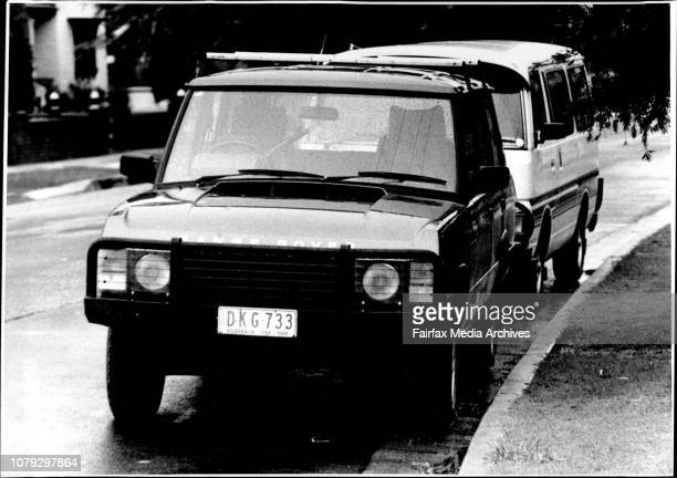 The mother of Mrs John Friedrich seen answering the door of her home at Belmore also seen in the Land Rover found outside a hotel in Victoria March...