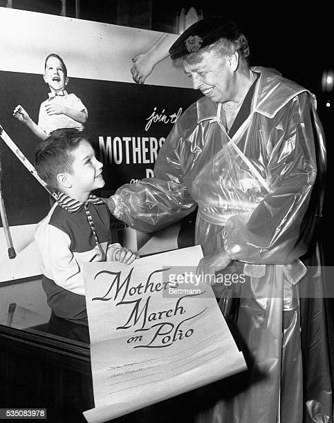 The Mothers' March on polio was inaugurated December 10 1953 by Eleanor Roosevelt in ceremonies at the Commercial State Bank and Trust Co Holding an...