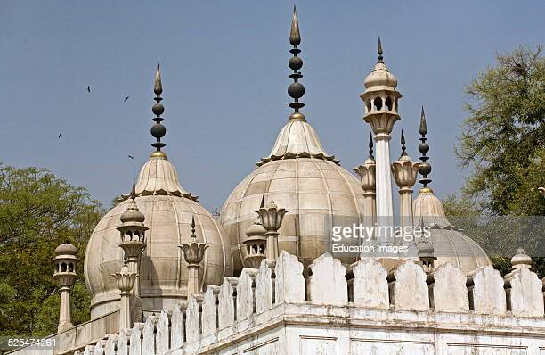 The Moti Masjid Or Pearl Mosque Inside The Red Fort Or Lal Qula Which Was Built By Emperor Shah Jahan In 1628 Old Delhi India