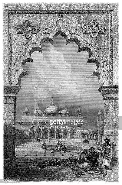 'The Moti Musjid or Pearl Mosque, Agra, Hindustan'. The Moti Masjid was built in the mid 17th century by the Mughal Emperor Shah Jahan. A print from...