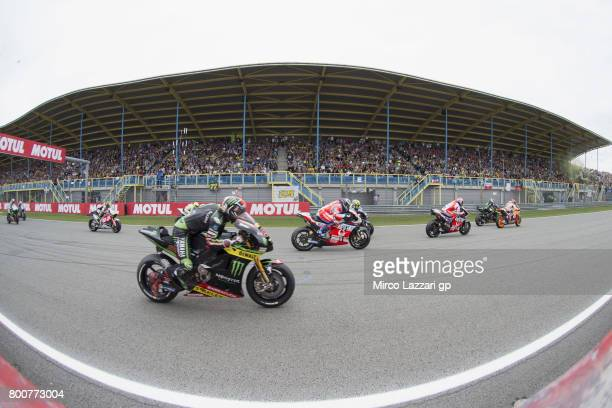 The MotoGP riders start from the grid during the MotoGP Race during the MotoGP Netherlands Race on June 25 2017 in Assen Netherlands