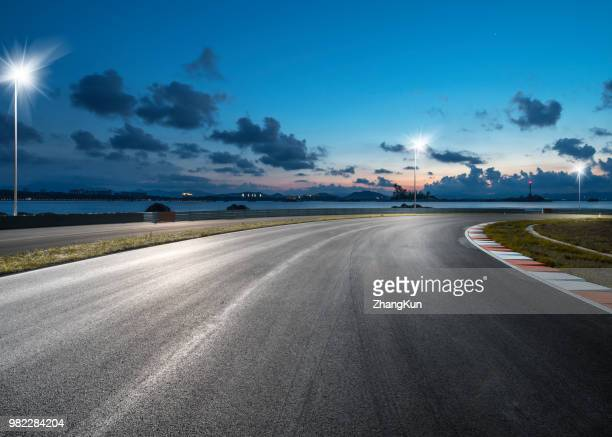 the motor race track - motorsport stock pictures, royalty-free photos & images
