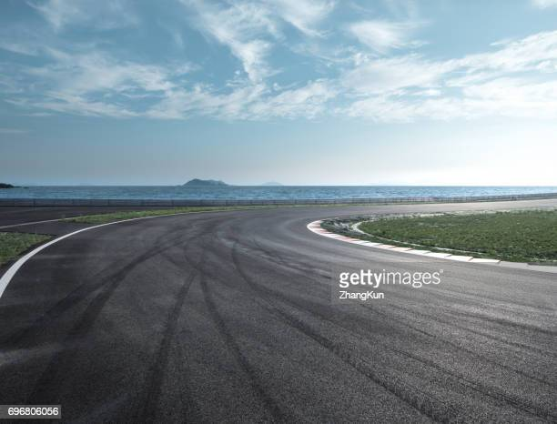 The motor racing tracks