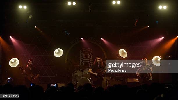 The Motorpsycho band performs a live concert at Hiroshima Mon Amour in Turin The band was formed in the late 1980's with three members Hans Magnus...