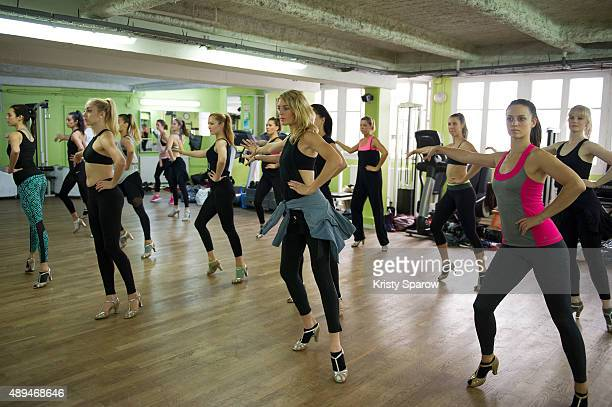 The Moulin Dancers' practice in the Moulin Rouge dance studio during last reheasal prior to them going to NYC The Moulin Rouge Dancers go to New York...
