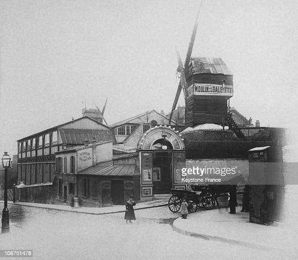 The Moulin De La Galette On Lepic Street At The Beginning Of The 20Th Century