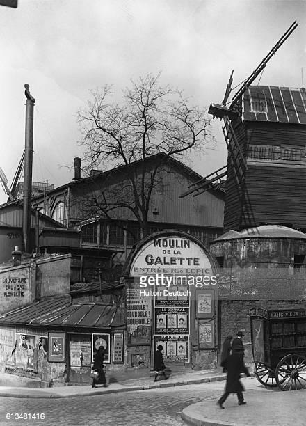 The Moulin de la Galette the last windmill in Montmartre