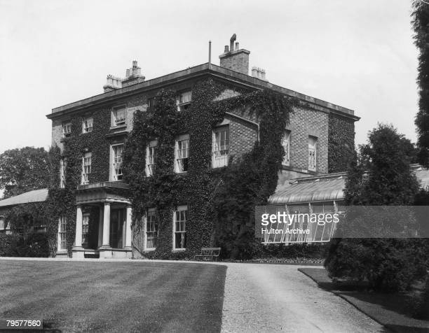 The Mount House home of the Darwin family and birthplace of English naturalist Charles Darwin in Shrewsbury Shropshire circa 1935