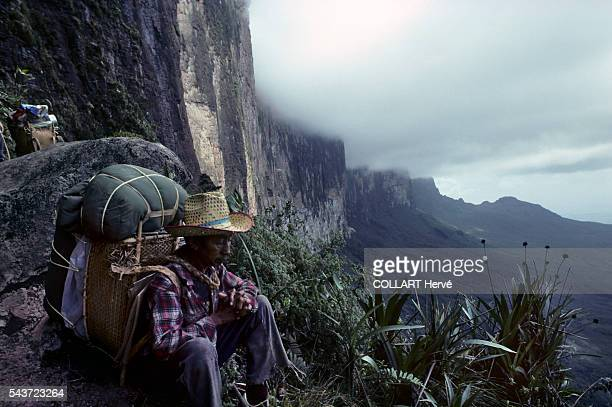The Mount Roraima aka Tepuy Roraima and Cerro Roraimais the highest of the Pakaraima chain of tepui plateau in South America First described by the...