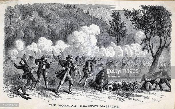 1857 The Mountain Meadows Massacre A group of Mormons and Paiute Native Americans attacking a group of emigrants traveling through Utah on their way...