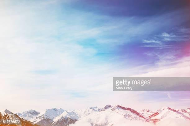 The mountain peaks of Mayrhofen, Austria