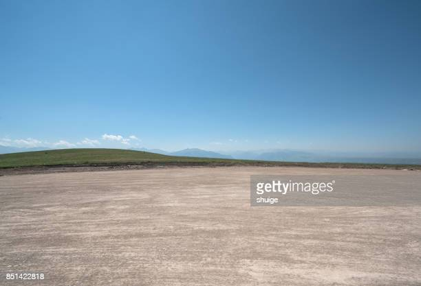 the mountain road of the kalajun grassland - valley stock pictures, royalty-free photos & images