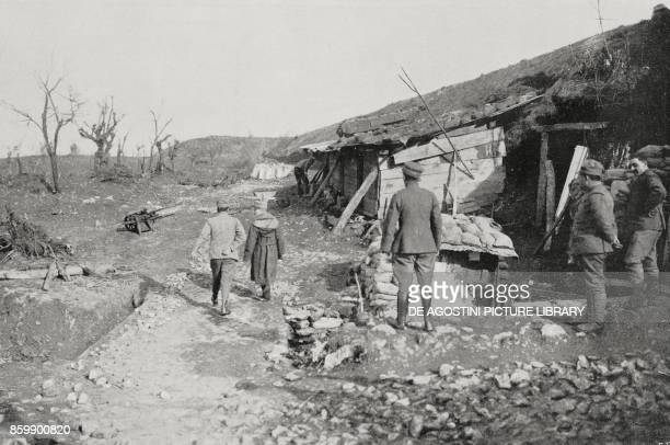 The mountain side from where the Italian army offensive started towards Monte San Michele in 1915 Karst region Italy World War I photo by Aldo...