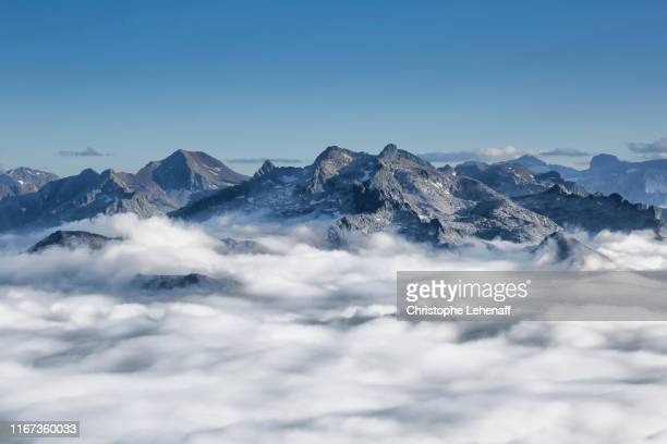 the mountains from the pic du midi de bigorre observatory (france) - オートピレネー ストックフォトと画像