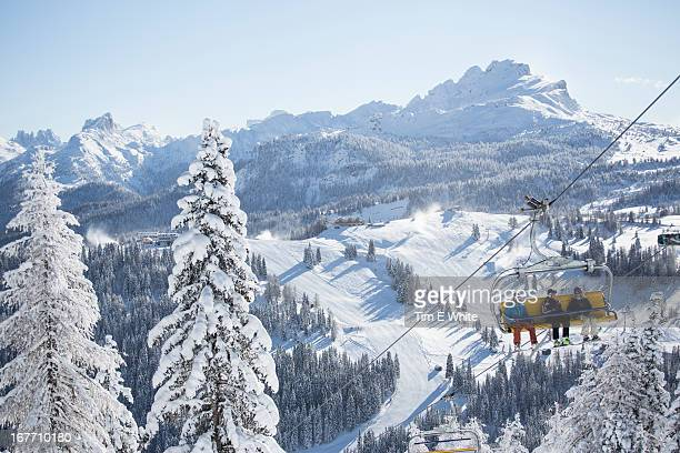 the mountains of alta badia, italian alps, italy - alta badia stock pictures, royalty-free photos & images