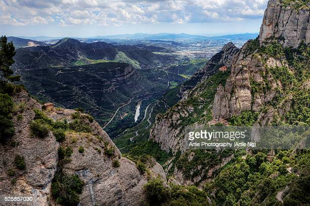 The Mountains of Montserrat, Barcelona, Catalonia, Spain