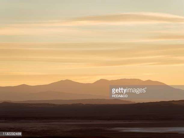 The mountains of the Altiplano near village Tolar Grande in Argentina close to the border to Chile. South America. Argentina.