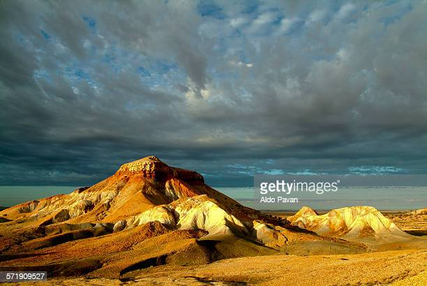 The mountains of the Painted desert at sunrise