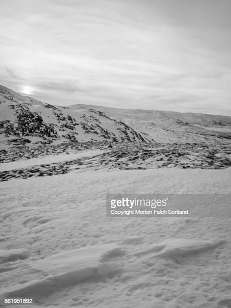 The mountains surrounding Hemsedal, Norway