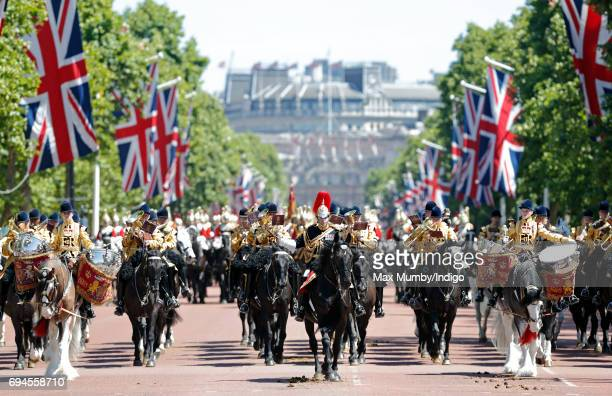 The Mounted Band of The Household Cavalry takes part in The Colonel's Review on June 10 2017 in London England The Colonel's Review is the second...
