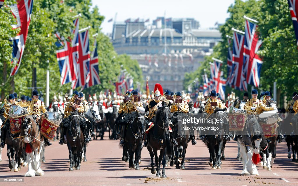 The Mounted Band of The Household Cavalry takes part in The Colonel's Review on June 10, 2017 in London, England. The Colonel's Review is the second rehearsal for Trooping the Colour, the ceremonial event marking the official birthday of Queen Elizabeth II.