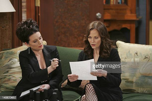 WILL GRACE The Mourning Son Episode 20 Pictured Megan Mullally as Karen Walker Lesley Ann Warren as Tina Photo by Chris Haston/NBCU Photo Bank