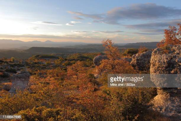 the mourres forcalquier provence - alpes de haute provence stock photos and pictures