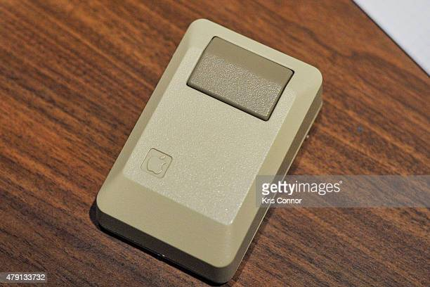 The mouse for the Apple Macintosh which debuted in 1984 is on display during the grand opening of National Museum Of American History's Innovation...