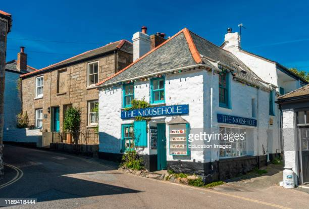 The Mousehole gift shop in the village center Mousehole Cornwall England UK