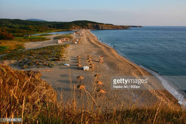 the mouth of the veleka river - bulgaria stock pictures, royalty-free photos & images
