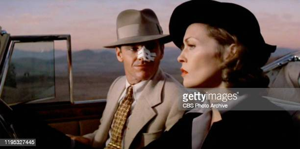 "The movie ""Chinatown"", directed by Roman Polanski and written by Robert Towne. Seen here, Jack Nicholson as J.J. 'Jake' Gittes and Faye Dunaway as..."