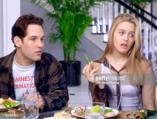 """The movie """"Clueless"""", written and directed by Amy Heckerling. Seen here from left, Paul Rudd and Alicia Silverstone . Theatrical wide release,..."""