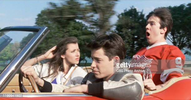 """The movie """"Ferris Bueller's Day Off"""", written and directed by John Hughes. Seen here from left, Mia Sara as Sloane Peterson, Matthew Broderick as..."""