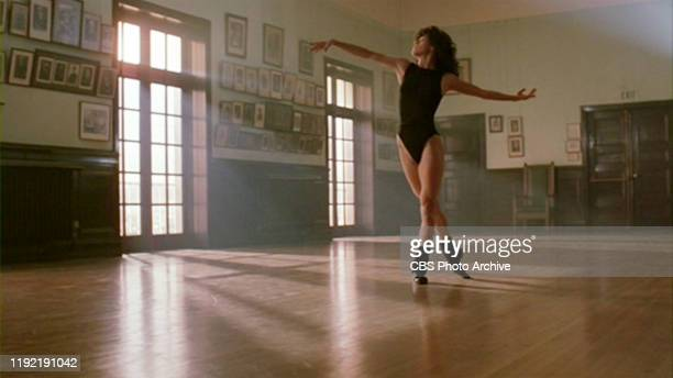 The movie Flashdance directed by Adrian Lyne Seen here character Alex Owens dancing to the signature song 'Flashdance What A Feeling' sung by Irene...