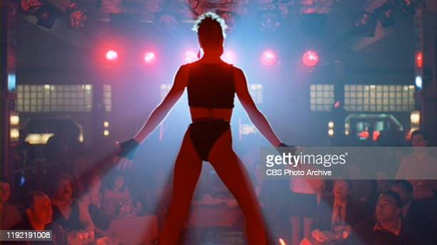 The movie Flashdance directed by Adrian Lyne Seen here Cynthia Rhodes as dancer Tina Tech Initial theatrical release April 15 1983 Screen capture...