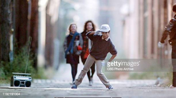 The movie Flashdance directed by Adrian Lyne Seen here in foreground a breakdancer performs to the Jimmy Castor song Its Just Begun Initial...