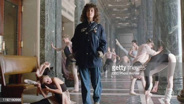 The movie Flashdance directed by Adrian Lyne Seen here Jennifer Beals as Alex Owens going to apply at the dance repertory Initial theatrical release...