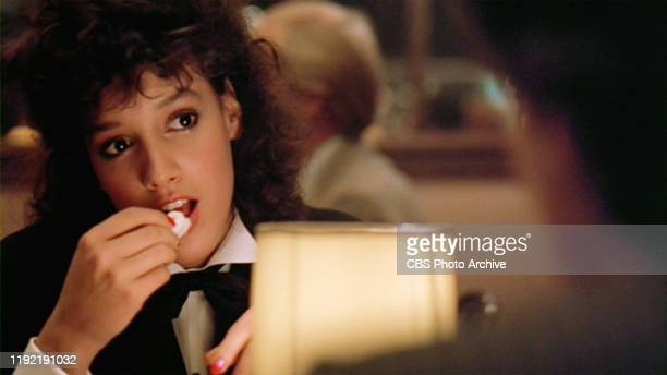 The movie Flashdance directed by Adrian Lyne Seen here Jennifer Beals as Alex Owens eating lobster Initial theatrical release April 15 1983 Screen...