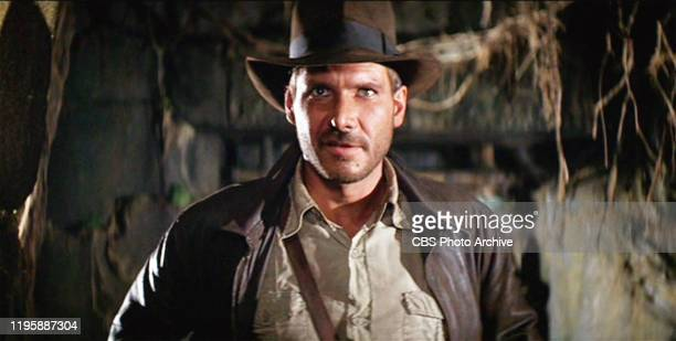 The movie: Indiana Jones and the Raiders of the Lost Ark , , directed by Steven Spielberg. Seen here, Harrison Ford as Indiana Jones. Initial...