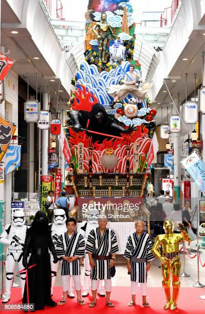 The movie Star Wars The Last Jedi has its own float at the Hakata Gion Yamakasa festival on July 2 2017 in Fukuoka Japan The Hakata Gion Yamakasa...