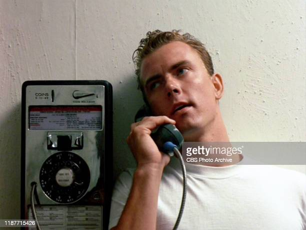 The movie Top Gun directed by Tony Scott Seen here Barry Tubb as Lt Leonard Wolfman Wolfe using a public payphone Initial theatrical release May 16...