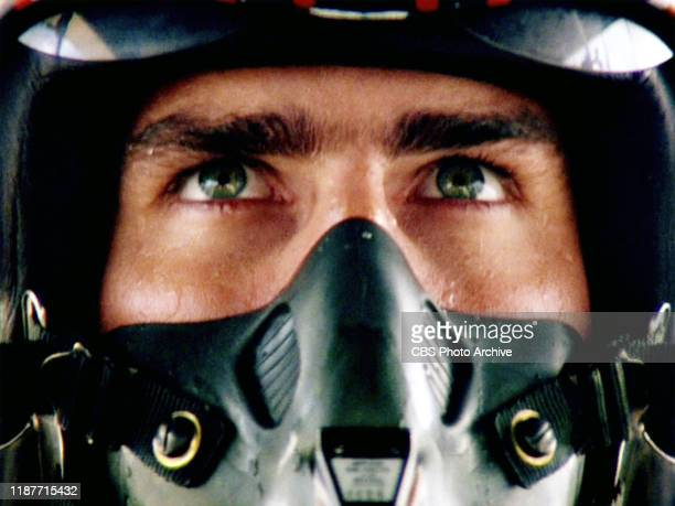 The movie Top Gun directed by Tony Scott Seen here Tom Cruise as Lt Pete Maverick Mitchell Initial theatrical release May 16 1986 Screen capture...