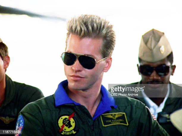 The movie Top Gun directed by Tony Scott Seen here Val Kilmer as Lt Tom 'Iceman' Kazansky Initial theatrical release May 16 1986 Screen capture...