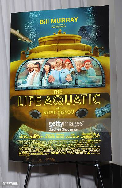 "The movie's poster on display at the Variety Screening Series - ""The Life Aquatic with Steve Zissou"" at the ArcLight Theater on November 22, 2004 in..."