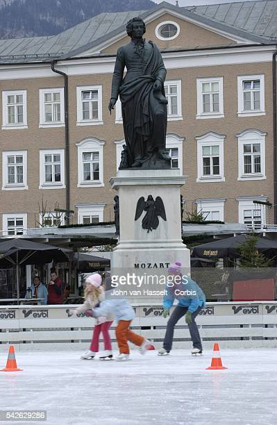 The Mozart statue in Mozart Square was unveiled in 1842