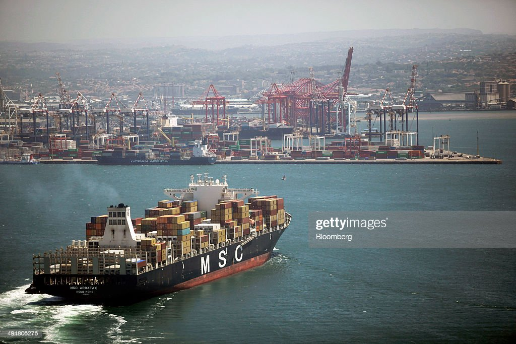 Shipping Operations At The Port Of Durban : News Photo