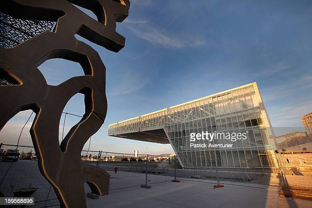 The MuCEMthe Museum of European and Mediterranean Civilisation design by architects Rudy Ricciotti and Roland Carta on January 13 2013 in Marseille...