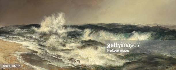 The Much Resounding Sea, 1884. Artist Thomas Moran. .